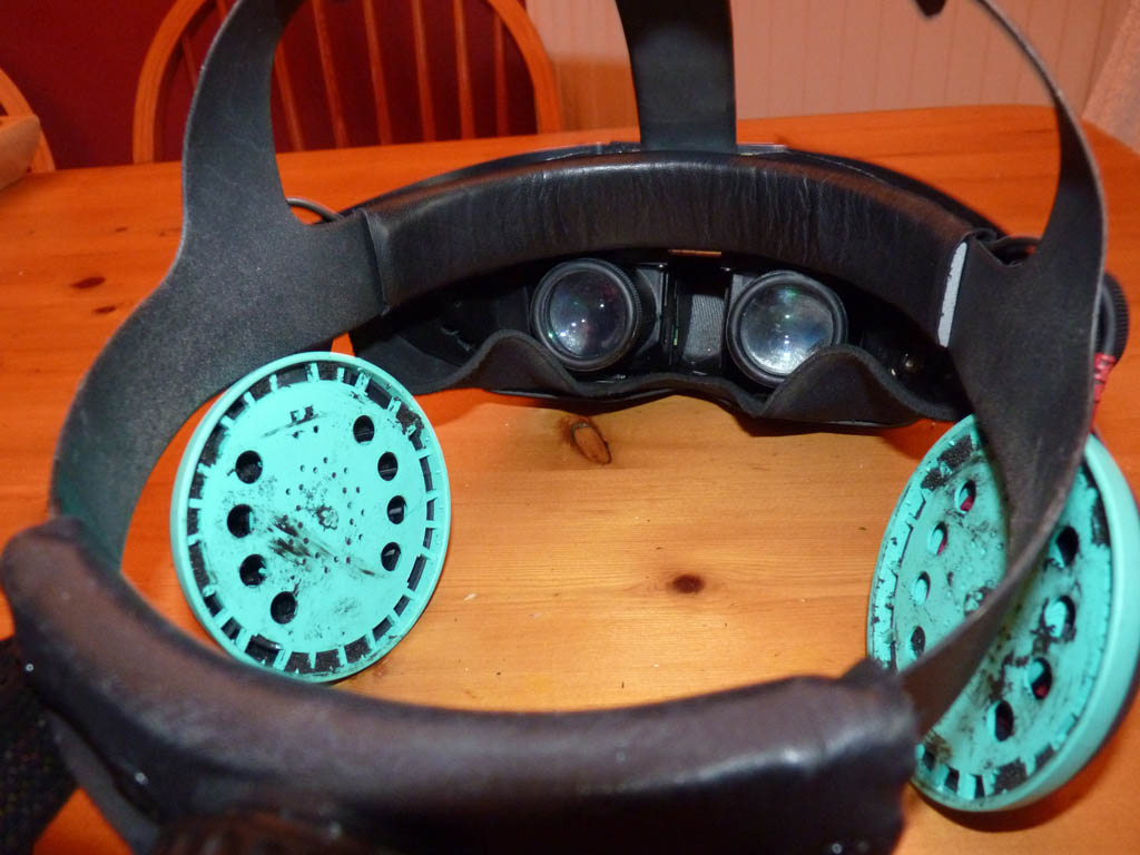 Tearing Out the Guts of a Virtual Research VR-4 Helmet
