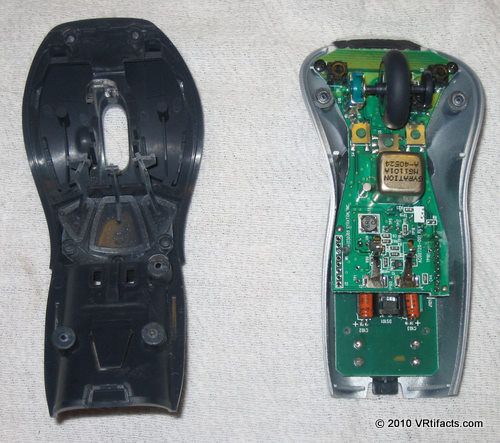 The mouse case will come apart. Discard the dark plastic piece on the left of this photo.