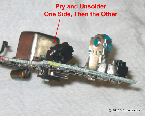 Here's a switch with one side unsoldered. Just pull the other side free while unsoldering it. These are normal mouse buttons. You could keep them, or remote the switches elsewhere.